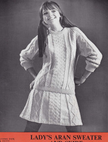 Vintage Ladies Aran Sweater and Dress