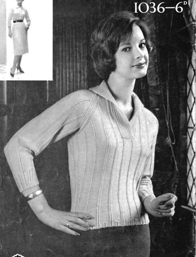 Ladies Vintage Aran Sweater and Aran Dress