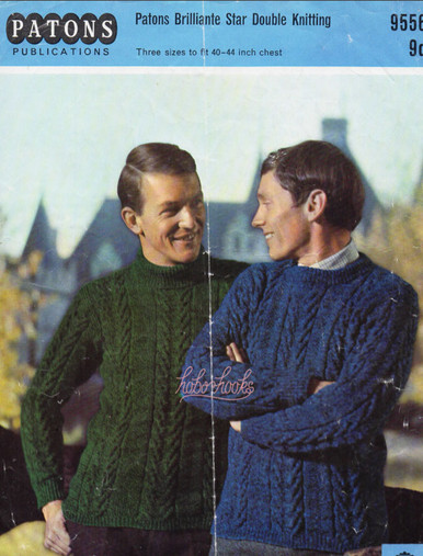 Mens Vintage Patons Aran Sweater
