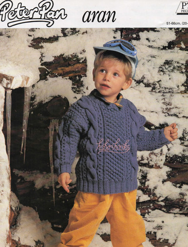Vintage Childrens Aran Sweater