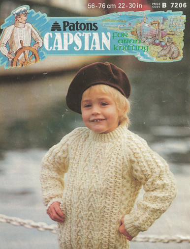 Vintage Aran Childrens Sweater