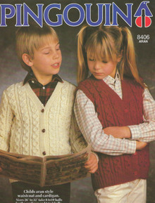 Childrens Vintage Aran Sweater