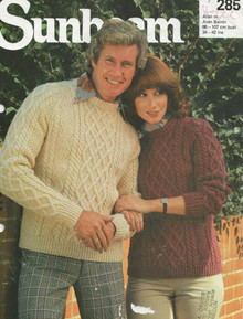 VIntage Unisex Aran Cross Stitch Sweaters