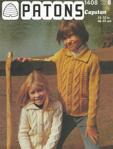 Vintage Childrens Aran Cardigans