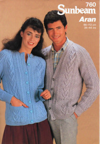 Vintage His & Hers Aran Cardigan