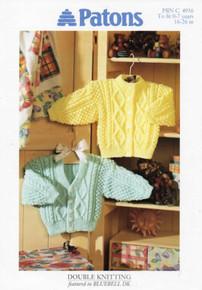 Vintage Aran Childrens Cardigan