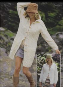 Vintage Aran Coat Long Line Jacket