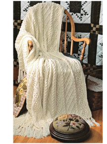 Aran Cable Throw
