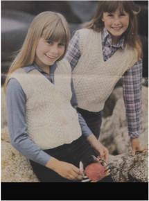 Child's Vintage Aran Sleeveless Sweater & Waistcoat