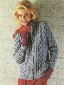 Womens Vintage Aran Cardigan