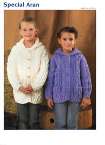 Vintage Children's Hooded Aran Cardigan