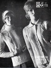 Vintage Ladies Aran Cardigan and Sweater