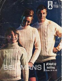 Vintage Aran Raglan Sweater
