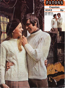 Vintage Crew Neck Aran Sweater