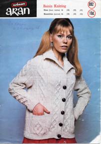 Vintage Aran Collar Cardigan