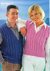 Vintage Aran Sweater Vest