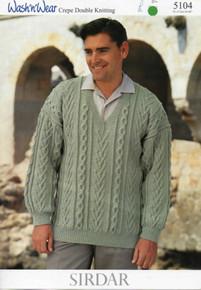 Vintage Men's Tree of Life Aran Sweater