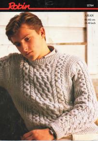 Vintage Men's Aran Cable Sweater