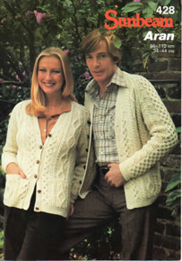 Vintage His And Her V-Neck Aran Cardigan