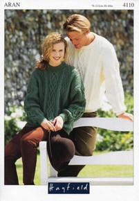 Vintage Unisex Aran Crew Neck Sweater