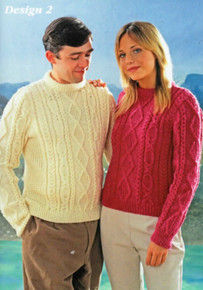 Vintage His and Hers Diamond Stitch Aran Sweater