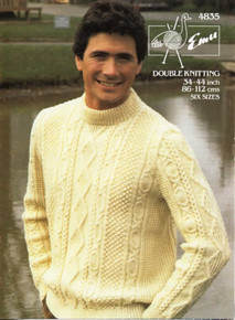 Vintage Aran Crew Neck Sweater