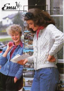 Vintage Ladies Buttoned Aran Cardigan