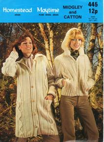 Vintage Ladies Coat and Cardigan