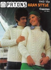 Vintage Aran Raglan Sleeve Sweater