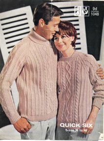 Vintage His and Hers Diamond Aran Sweater