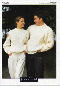 Vintage Aran His and Hers Sweater