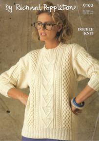 Vintage Ladies Aran Sweater