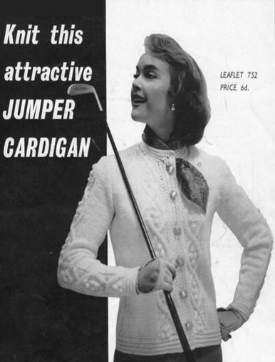 Ladies Vintage Aran Cardigan