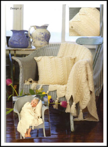 Vintage Aran Throw, Cushion and Bag