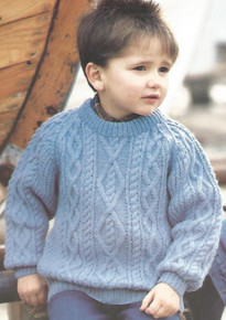 Vintage Children's Raglan Aran Sweater