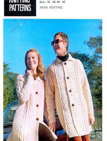 Unisex Vintage Aran Coat