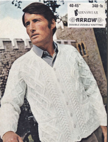 Men's Vintage Diamond Cardigan