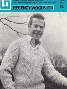 Men's ViIntage Aran Corrig Sweater