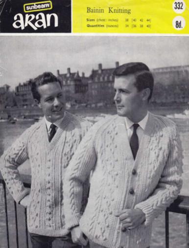 Men's Vintage V-Neck Sweater and Cardigan