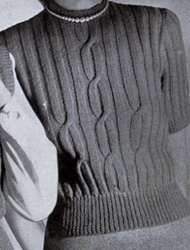Large Cable Sweater