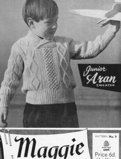 Children's Vintage Shawl Neck