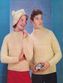 Children's Vintage Double-knit Sweater