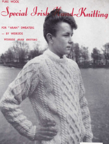 Children's Vintage Hand-knit Cable Sweater