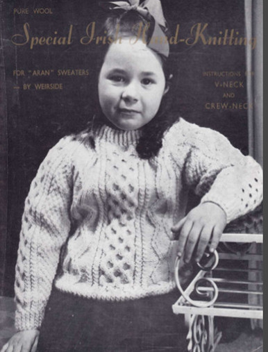 Children's Traditional Aran Stitch Sweater