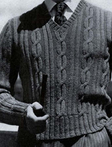 Men's Large Cable Sweater