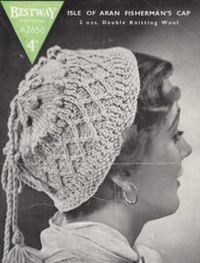 Vintage Aran Isles Fisherman Hat