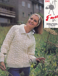 Vintage Ladies Chunky Knit Cardigan