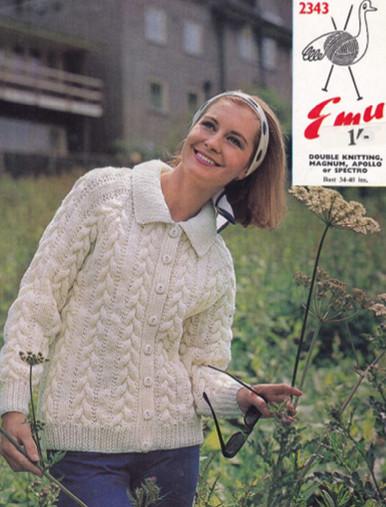 Vintage Ladies Chunky Knit Cardigan