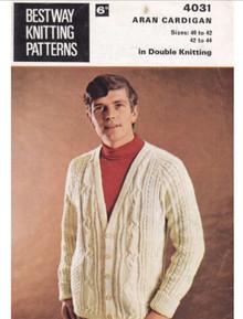 Vintage Men's Cardigan with Button Detail
