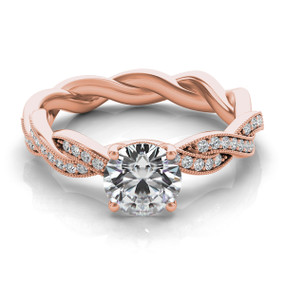 ROUND DIAMOND ENGAGEMENT RING W/TWISTED BAND EN7213